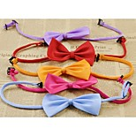 DefengPet dogs bow ties Bow tie scarf collars decorated tie necklace(Ran dom Color)