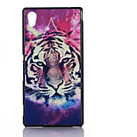 Tiger Pattern TPU Material Soft Phone Case for Sony M4