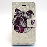 Dog Pattern PU Leather Phone Holster  For iPhone 4/4S