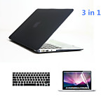 3 in 1 Full Body Hard Cases with Keyboard Cover and HD Screen Protector for Macbook Air 13.3