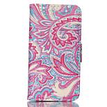 Modelo de flores colorido de la PU cuero de la caja de doble cara de teléfono para el iphone 5 / 5s