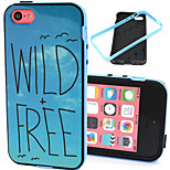 Wild Free Pattern TPU Plus PC Border Phone Case For iPhone 5C