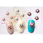 5pcs 3D Flash Romantic Flower Nail Jewelry