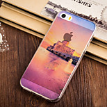 Dusk City Pattern TPU Soft Case for iPhone 5/5S