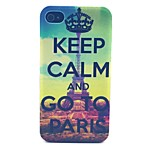 Crown Paris Pattern PC Material Phone Case for iPhone 4/4S