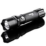 Lanternas LED/Lanternas de Mão ( Foco Ajustável/Prova-de-Água/Recarregável/Bisel de Golpe/Zoomable ) - ParaCampismo / Escursão /