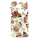 Safflower  pattern TPU + IMD Soft Back Cover Case  For  Huawei Mate 7