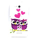 Slim Handle TPU Case Owl Love for Sony E4/E4G