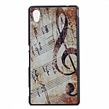 Note Pattern Ultrathin Hard Back Cover Case for Sony M4