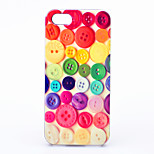 MAYCARI®Color Button Pattern ABS Hard Back Case for iPhone 5/5S