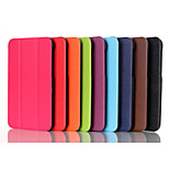 Top Selling Solid Colors Floding Flip Leather Case with Stand Function for HP Stream 8 (Assorted Colors)