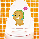 Wall Stickers Wall Decals Style Fashionable Lovely Toilet PVC Wall Stickers
