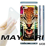 MAYCARI®Cross Leopard Pattern Transparent TPU Soft Back Case for iPhone 6