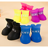 Black/Blue/Pink/Yellow/Purple Waterproof Mixed Material Socks & Boots For Dogs