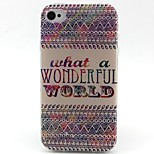 Letters Pattern TPU Material Phone Case for iPhone 4/4S