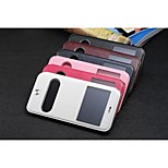 Wholesales  Window View Mobile Pu  Phone Cases Holders for  iPhone 6  Plus 5.5 Assorted Colors