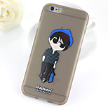 Fashion Boy Pattern TPU Soft Case for iPhone 6