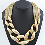 MPL The trend of the geometric shape of hand woven short necklace