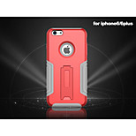 New Iron Man Style Solid Two-in-One Silicon and Plastic Case with Stand for iPhone 6 (Assorted Colors)