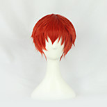 Cosplay Wigs Assassination Classroom Cosplay Red Short Anime Cosplay Wigs 30 CM Heat Resistant Fiber Male / Female