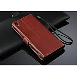 PU Leather Wallet Pattern Full Body Case with Card Holder for Sony Xperia Z3 (Assorted Color)