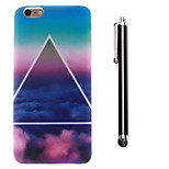 Triangular Clouds Pattern TPU Soft Back and A Stylus Touch Pen for iPhone 6