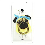 Puppy Pattern TPU Painted Soft Back Cover for Nokia  Lumia 535/ Lumia 435