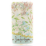 Leaves Pattern TPU Material Soft Phone Case for LG G3 Mini