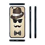 Gentleman Silhouette Pattern Transparent Silicone Rubber Edge Hard Back Case for iPhone 6/6S