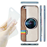 Gray Camera Painting Pattern TPU Soft Back Case for iPhone 6