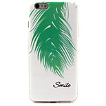 Leaves Pattern TPU Material Phone Case for iPhone 6