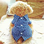 holdhoney rot / blau mit weißen Pentagramm Cowboyhemd für Haustiere Hunde (verschiedene Größen, Farben) # lt15050153