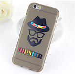 Hat Old Man Pattern TPU Soft Case for iPhone 6/6S