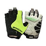 Basecamp® Cycling Gloves Fingerless Silica GeL Lycra Soft Mat Short Ride Bycicle Semi-finger Gloves Green BC-202