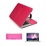 Luxury Leather 3 in 1 Full Body Cases with Keyboard Flim and HD Screen Protector for Macbook Air 13.3