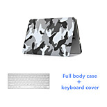 Fashion PVC Full Body Case with Keyboard Cover for Macbook Pro 13.3