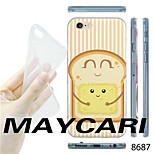 MAYCARI®Cartoon Bread Pattern TPU Soft Transparent Back Case for iPhone 6