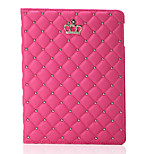 Folding Rhombus PU Leather Case with Stand for iPad mini 1/2/3(Assorted Colors)