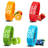 Bluetooth 4.0 Multifunctional Running Pedometer/Calories Intelligent Bracelet Sleep Time Temperature Monitoring