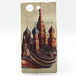 Castle Pattern TPU Material Soft Phone Case for Sony Z3 Mini