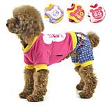 PETSOO Winter Dog Apparel England style Cotton printed four-legged Pet Clothes