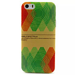 Red And Green Pattern TPU Painted Soft Back Cover for iPhone 5/5S