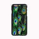 Peacock Feathers Design Aluminum Hard Case for iPhone 6
