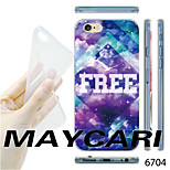 Free Pattern Transparent TPU Soft Back Case for iPhone 6