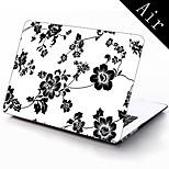 elegante patrón de flores diseño de la caja protectora de cuerpo completo de 11 pulgadas / 13 pulgadas de aire nuevo macbook