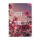 Beautiful Flowers Pattern PU Leather Full Body Case for iPad mini/mini2/mini3