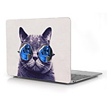 Funny Cat with Big Glasses Design Full-Body Protective Plastic Case for 12