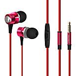 huast auriculares estéreo de auriculares in-ear de metal con micrófono para iPhone 6.6 más / ipod / ipad aire / ipad samsung