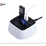 7 Port Factory Man USB 2.0 Hub Card Readear USB Combo,  Premium Fast Speed Sleek Design 7 Port USB 2.0 Hub Combo