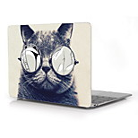 Cat with Sexy Glasses Design Full-Body Protective Plastic Case for 12